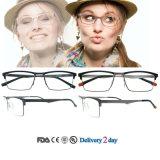 L'alluminio incornicia i blocchi per grafici degli occhiali dei progettisti dei blocchi per grafici degli occhiali del metallo degli occhiali