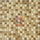 Ruw en Matt Face Mixed Glass met Marble Mosaic Used in Woonkamer (CS100)