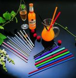 Straight Colorful Plastic Flexible Straws