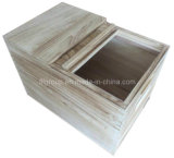 Eco-Friendly испеченная коробка хранения Paulownia деревянного ящика риса естественная деревянная