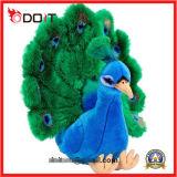 L'abitudine dell'OEM rende ad animale farcito molle il bello giocattolo della peluche del pavone