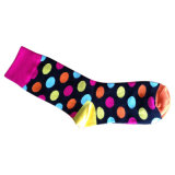 Baumwolle Women Plain Socks mit Fashion Designs (fp-1)