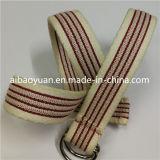 나일론과 Cotton Conbinated Belt, Double Ring Buckle Belt