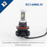 Indicatore luminoso 25W 6000lm dell'automobile del faro LED dell'automobile H13 LED di Lmusonu X3 per l'automobile
