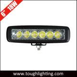 12 Voltios 6 pulgadas resistente al agua IP67 18W 4X4 LED luces de trabajo carretilla