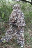 vestito di Ghillie di caccia della giungla di 3D Leafty Camoufalge