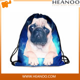 Fashion Women Girls Animal Carton Printing Sac à main Drawstring Student Bag
