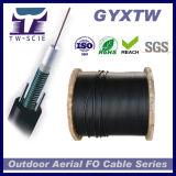12 manutenção programada blindada do núcleo GYXTW do cabo de fibra óptica aéreo