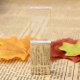 Bastone a cristallo di memoria del USB di marchio del laser per il regalo di promozione