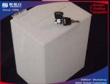 Caixa de cédula branca acrílica, caixa de cédula desobstruída