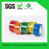 안전 테이프를 인쇄하는 고품질 탬퍼 분명한 열려있는 빈 관례