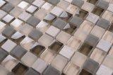 Qj005フォーシャン8mmの厚さの組合せカラー15X15ガラス組合せの石のモザイク・タイル