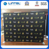 Популярный рекламируя стеллаж для выставки товаров знамени фона