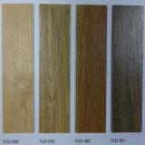 Du grain du bois Plancher élastique en PVC pour projet commercial de revêtement de sol
