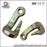 Crochet en acier galvanisé modifié de courbure d'encavateur de chape
