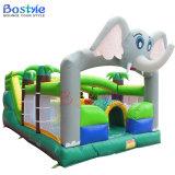 Videur gonflable d'éléphant, château sautant de videur gonflable de glissière