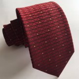 Lazo tejido seda del cuello del color del marrón de la manera de los hombres (L052)