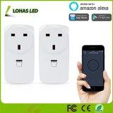 Alexa Voice WiFi Prise de courant de commande à distance Smart Home Plug