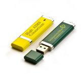 Logotipo personalizado do USB da movimentação 4GB da pena mais clara vara plástica
