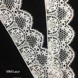 accessoires de vêtement élastiques d'approvisionnement de métier de la garniture DTY de lacet d'extension de 8cm de polyester de configuration florale durable de broderie avec les glands Hmhb1022
