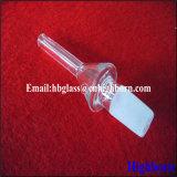 Transparenter Kegelzapfen-fixierter Quarz-Glas-Rohrleitung-Polierlieferant