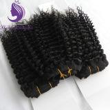 Tessuto crespo di trama dei capelli ricci dei capelli indiani di Remy