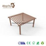Impermeables al aire libre Fácil-a-Instalan la pérgola de madera del jardín WPC con acero