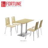 中国の木製の一義的なステンレス鋼のレストランのダイニングテーブルおよび椅子(FOH-BC37)