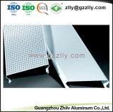 Perforado artístico moderno Panel de aluminio en forma de C de la Junta de techo