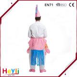 Traje inflável popular de Halloween do cavaleiro do unicórnio da forma engraçada para o adulto