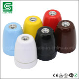 Vendimia colorida del socket de lámpara del sostenedor de bulbo de la porcelana E27