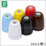 Lampen-Kontaktbuchse-Weinlese des Porzellan-Birnen-Halter-E27 bunte