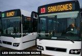 역, 경로 수를 보여주기를 위한 버스 LED 목적지 표시판