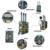 高い発電のManpack 6チャネルの移動式携帯電話GSMの無人機のシグナルの妨害機