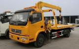 Dongfeng 판매에 기중기를 가진 가벼운 의무 구조차 견인 트럭