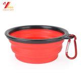 Перемещение шара кота собаки любимчика складное подавая портативный фидер тарелки воды силикона (XY-ST-027)