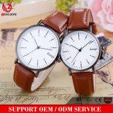Vs-237 2018 Novo Design Liga barata cinto de couro em homens e mulheres duas pulseiras de relógio de quartzo