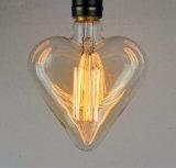 Rétro lampes antiques de coeur de cru en gros de forme