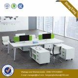 Poste de travail moderne de portées du tableau 4 de bureau de mélamine de meubles (HX-NJ5039)