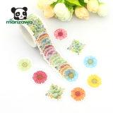 Etiqueta engomada de enmascarado adhesiva clasificada caliente de la cinta de Washi de la flor de la margarita del color