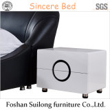 Base moderna de couro de Furniturereal do quarto