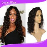 Волос объемной волны волос 8A девственницы 100% парики шнурка бразильских индийских полные
