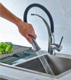 All-Copper Pullable giran universal de agua fría/caliente de grifo de cocina de goma