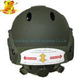 Casque protecteur rapide tactique de chemin de combat réglable pour la couleur de l'activité OD de Paintball