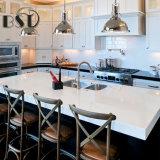 Reiner weißer Farben-Quarz-Stein-KücheCountertop