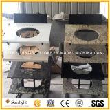 Parti superiori poco costose della cucina del granito della farfalla di colore giallo del materiale da costruzione del Brasile contro