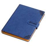 日記、事務用品のための浮彫りにされたロゴカスタムPUの革ノート