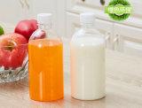 Plastiksaft-Flaschen mit Schutzkappen-Plastikmilchflasche-Schutzkappen