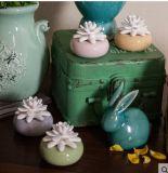 ホーム芳香の拡散器のための花のギプスが付いている美しい50ml陶磁器のつぼ