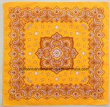 Пестрый платок Paisley квадратный Headwrap красного хлопка OEM фабрики подгонянный продукцией напечатанный конструкцией